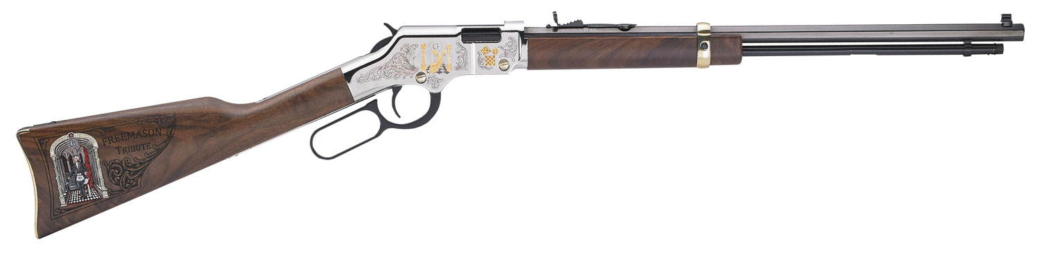 Henry H004MAS Lever Freemasons Tribute Lever 22 Long Rifle 20