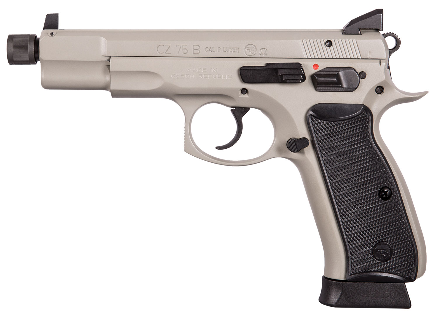 CZ 91235 CZ 75 Omega Urban Grey Suppressor Ready Single/Double 9mm 5.2