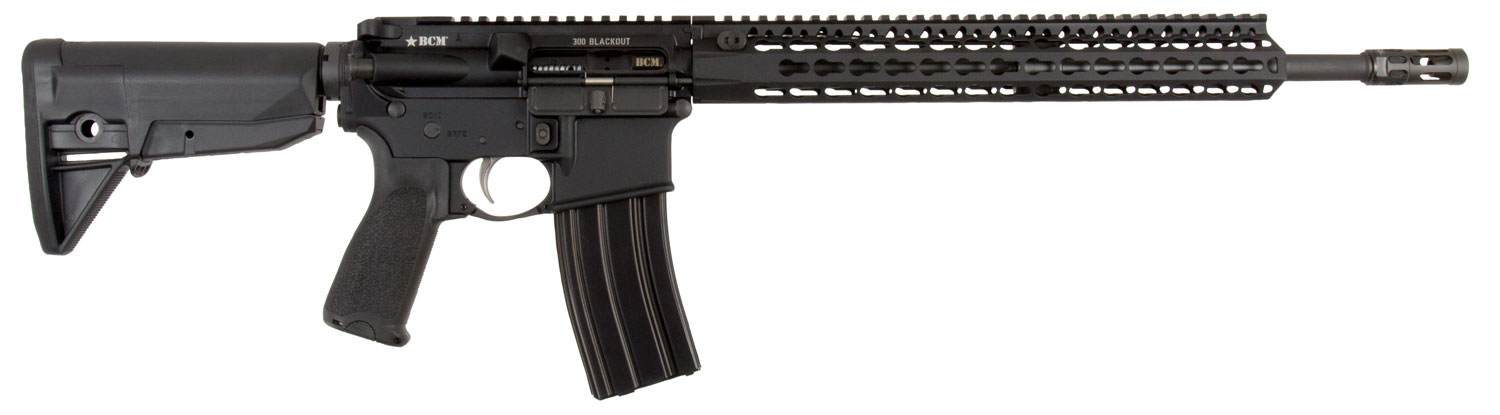 Bravo 653-790 BCM RECCE-16 Semi-Automatic 300 AAC Blackout/Whisper (7.62x35mm) 16