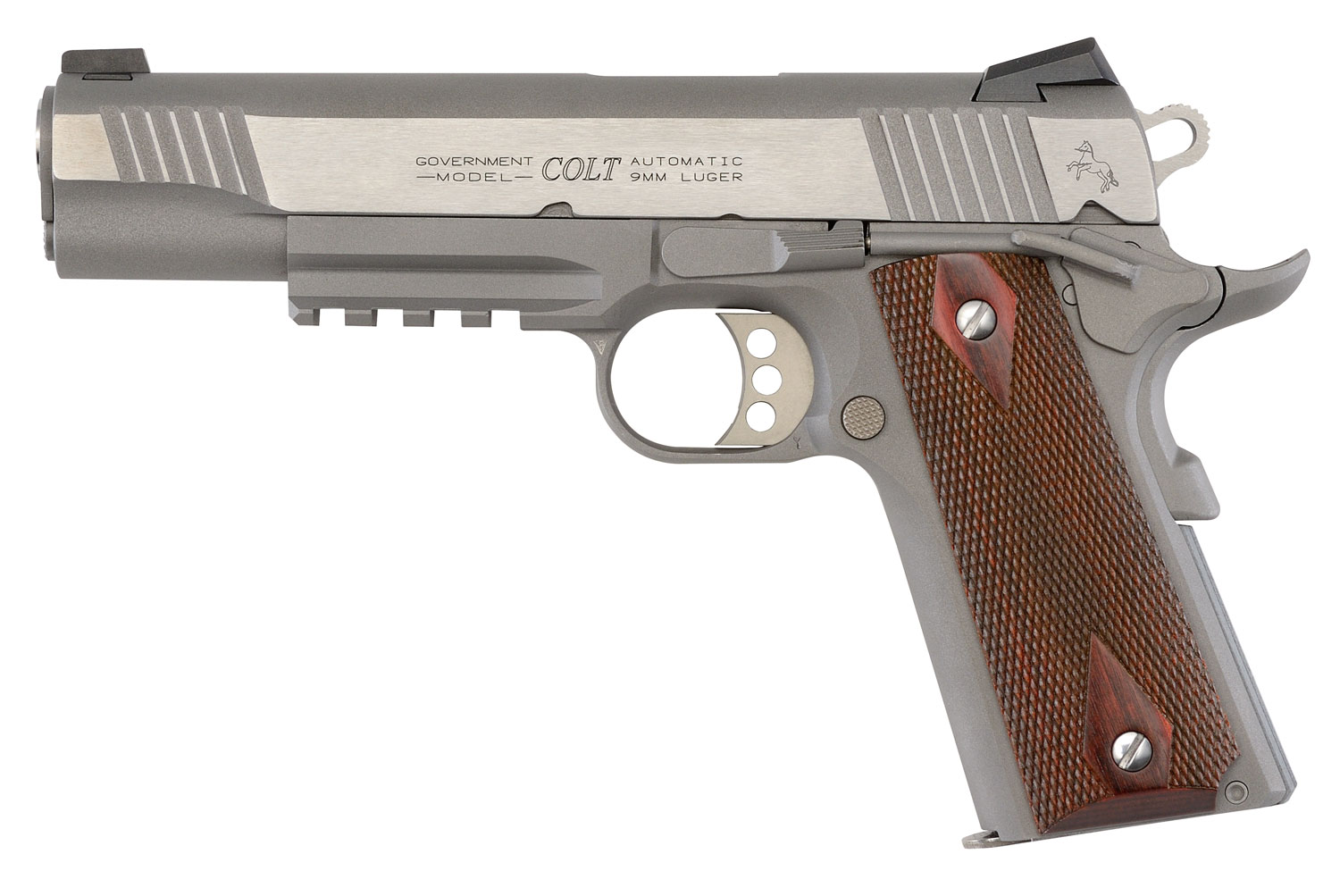 Colt Mfg 1911 Government with Rail Single 9mm Luger 5