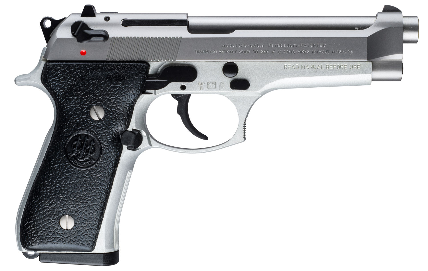 Beretta USA JS92F520M 92 FS Italy Inox Single/Double 9mm Luger 4.9