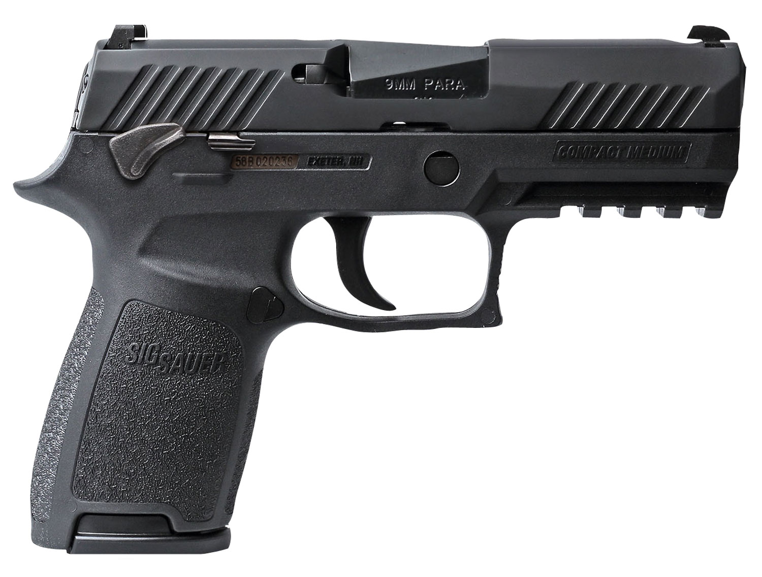 Sig Sauer 320C9BSSMS P320 Compact Double 9mm Luger 3.9