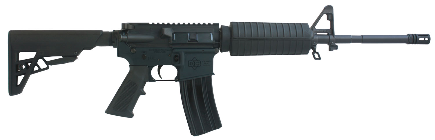 Diamondback DB15US300B DB15 with Single Rail Semi-Automatic 300 AAC Blackout/Whisper (7.62x35mm) 16