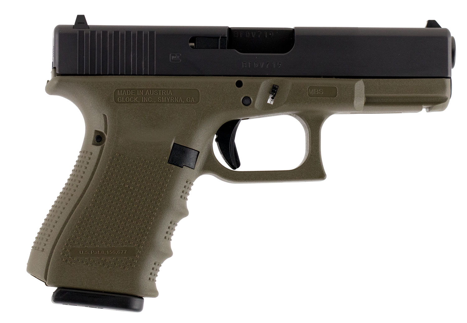 Glock PG1957201 G19 Gen 4 Double 9mm Luger 4.01