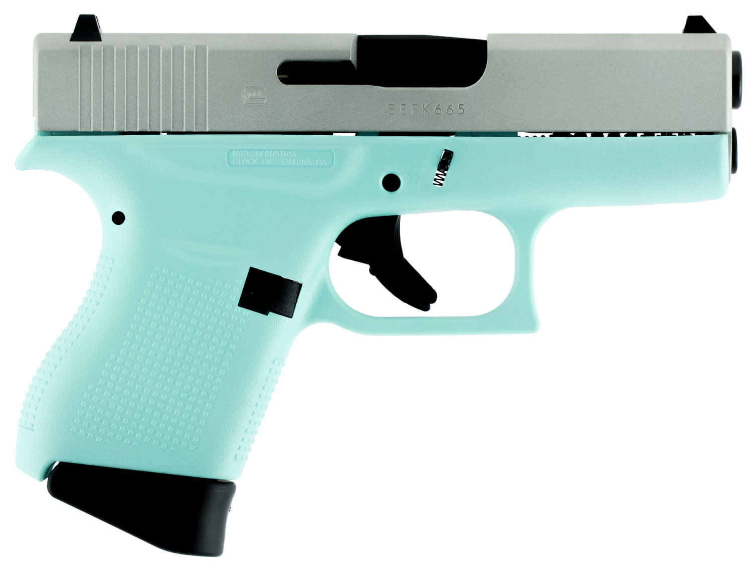 Glock PI4350201RES G43 Subcompact Double 9mm Luger 3.39