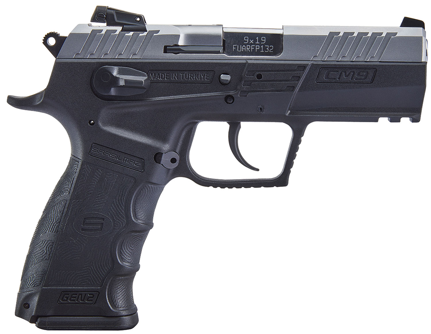 T R Imports SM9GEN2SS Sarsilmaz CM9 Gen 2 Single/Double 9mm 3.8