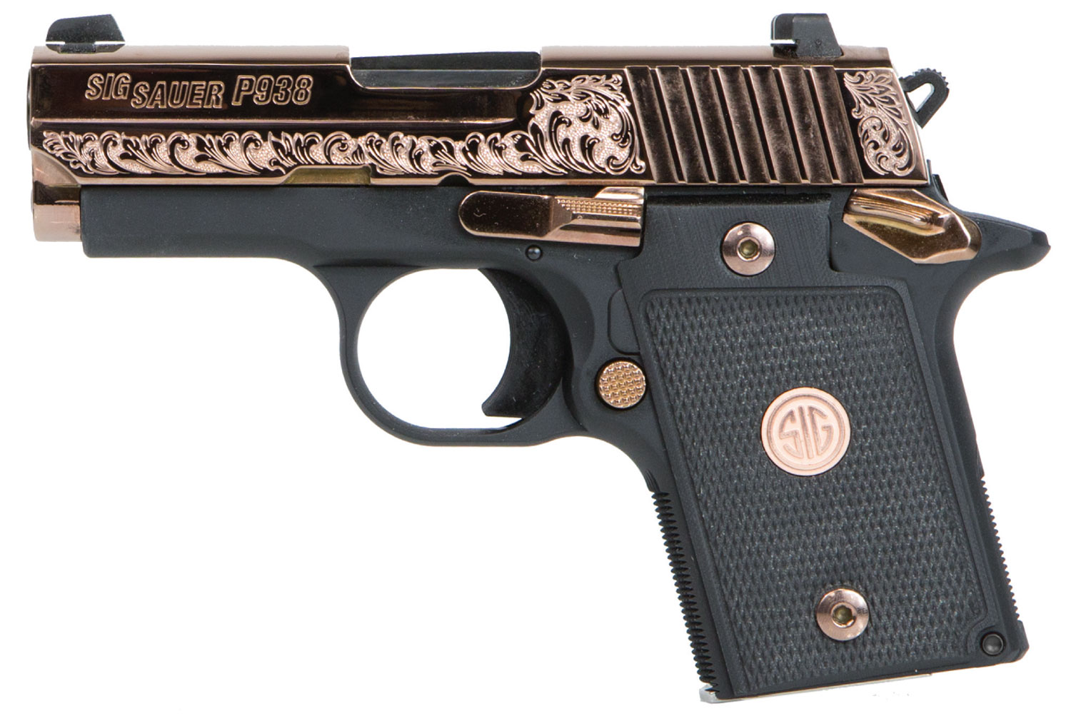 Sig Sauer 9389ERGAMBI P938 Rose Gold Single 9mm Luger 3