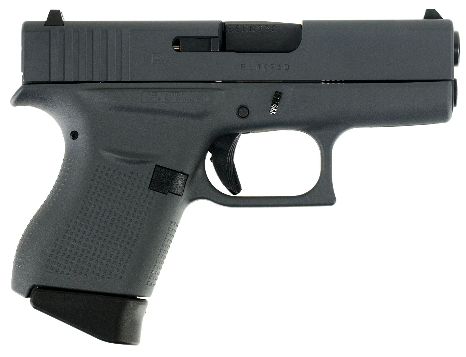 Glock PI4350201SNP G43 Subcompact Double 9mm Luger 3.39