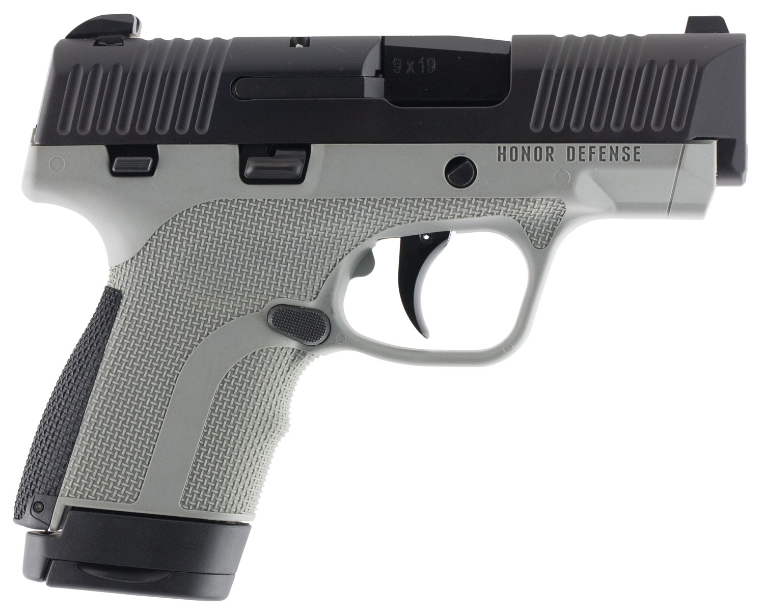 Honor Defense HG9SCMSGRA Honor Guard Sub-Copmact Double 9mm Luger MS 3.2