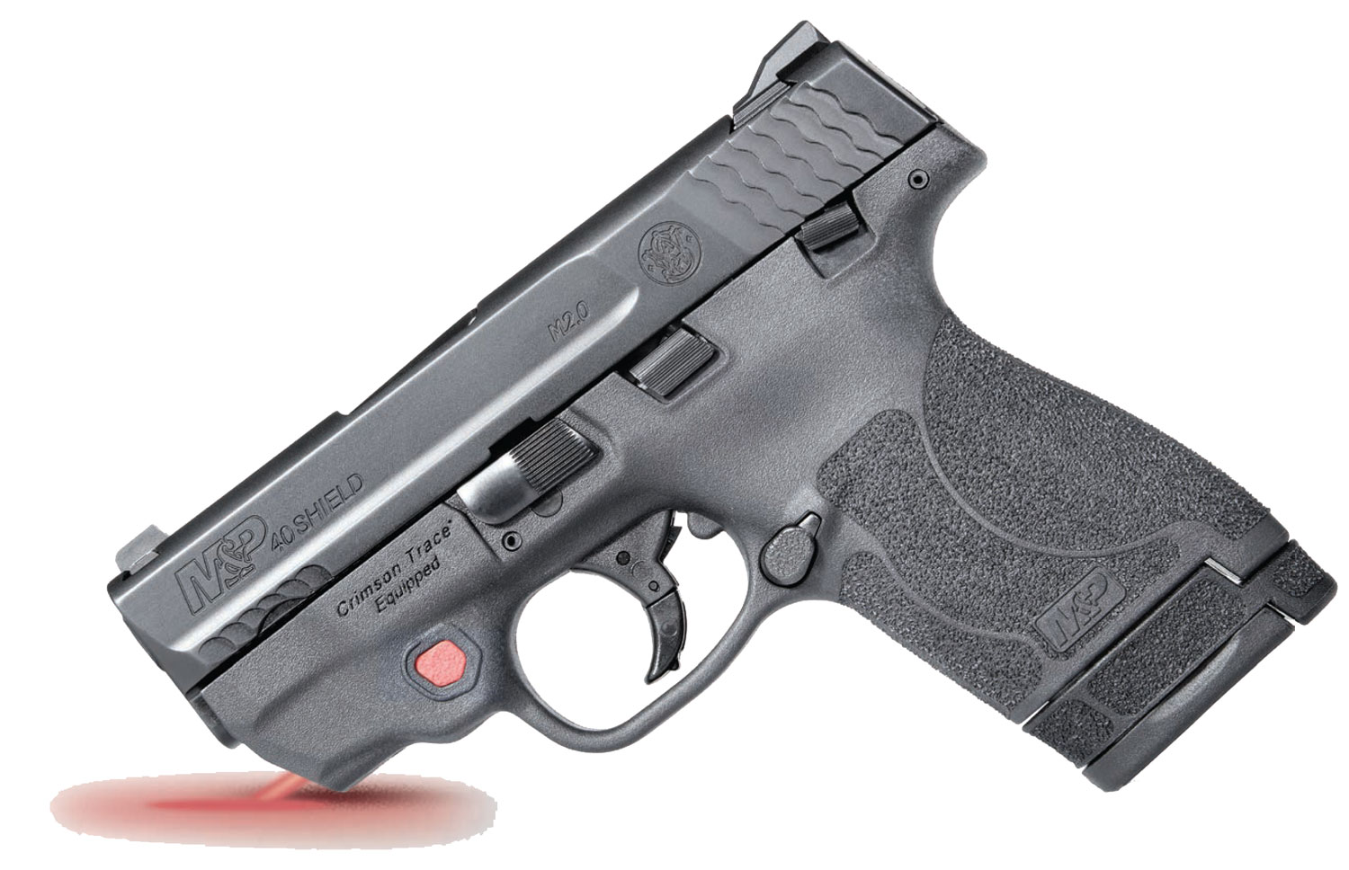 Smith & Wesson 11672 M&P 40 Shield M2.0 with Crimson Trace Red Laser Double 40 Smith & Wesson (S&W) 3.1