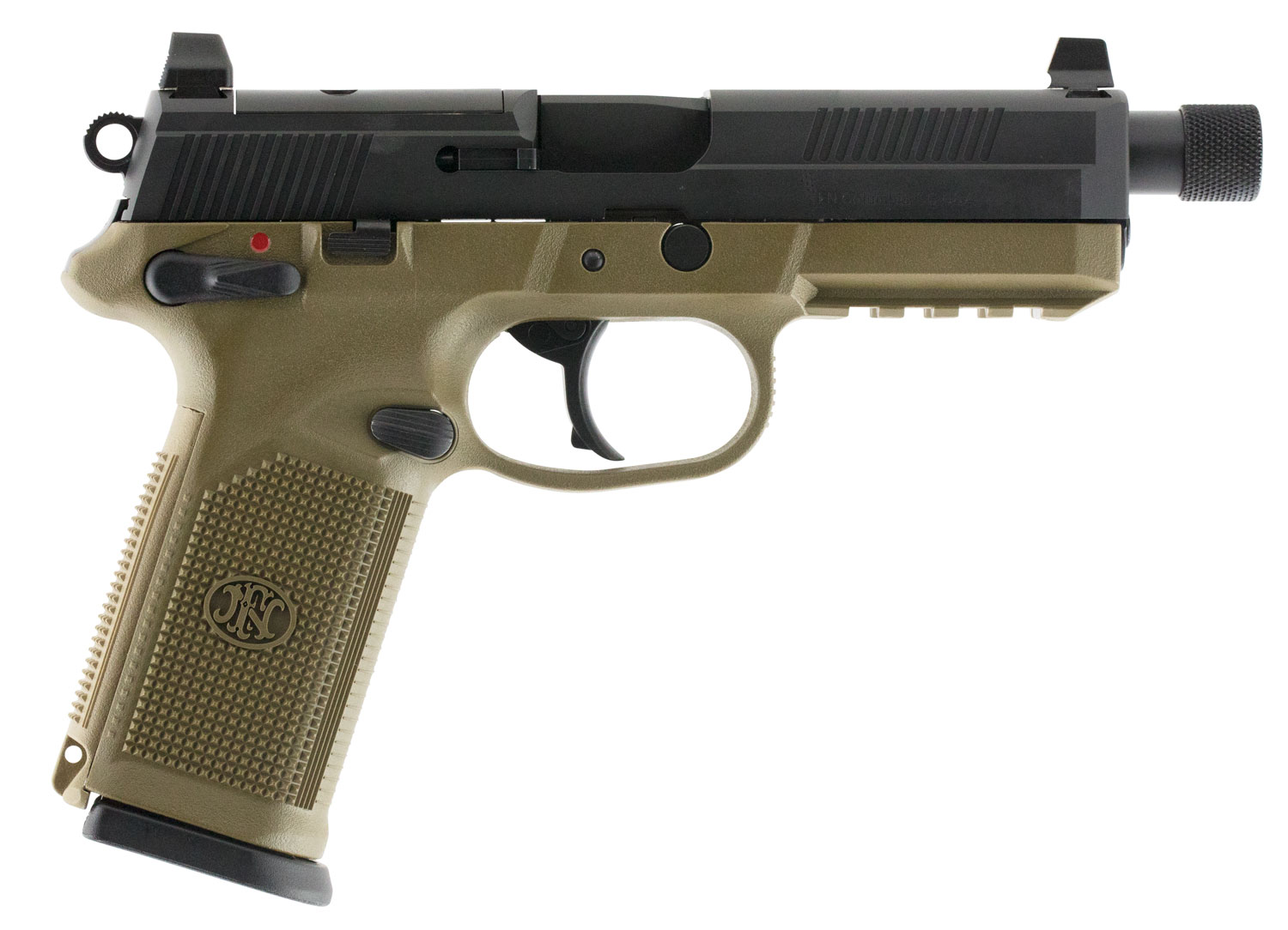 FN 66100353 FNX 45 Tactical Single/Double 45 Automatic Colt Pistol (ACP) 5.3