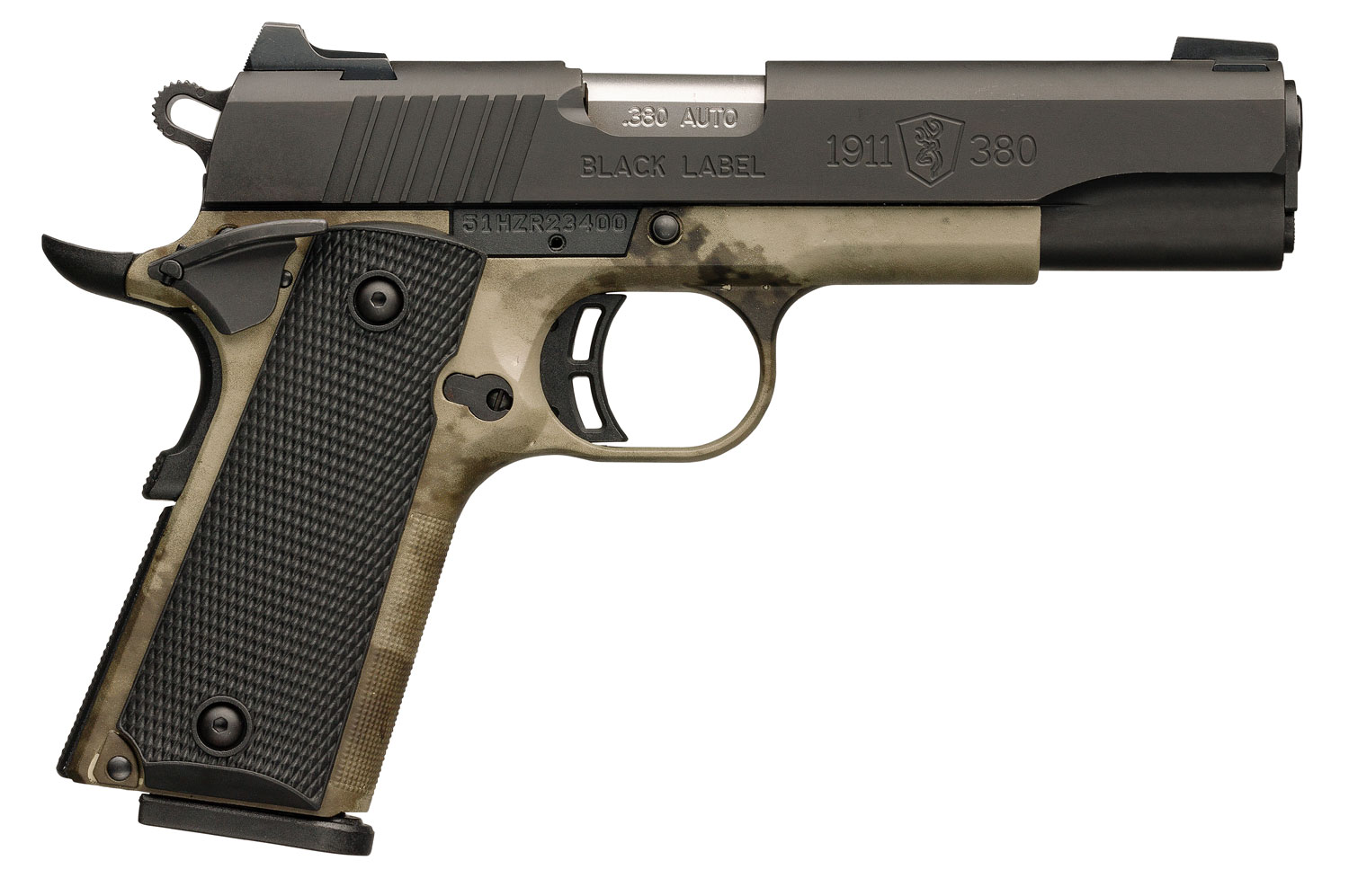 Browning 051938492 1911-380 Black Label Pro Speed Single 380 Automatic Colt Pistol (ACP) 4.25