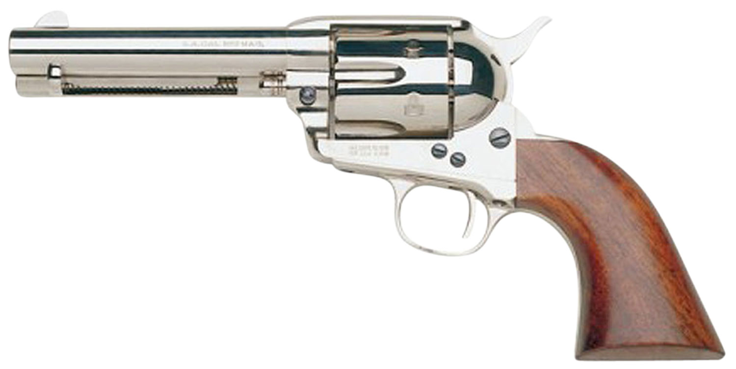 Taylors and Company 555124 1873 Cattleman Nickel Single 357 Magnum 4.75