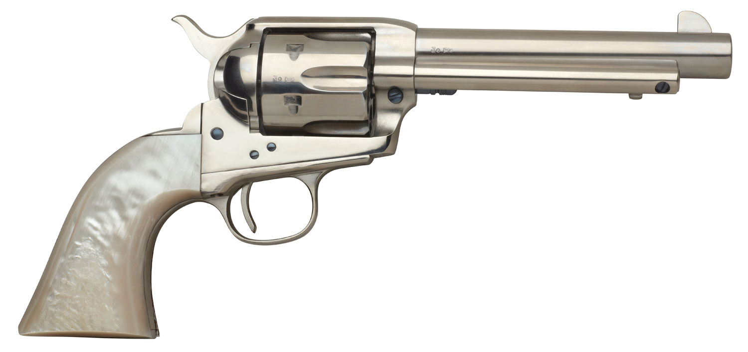 Taylors and Company 555114 1873 Cattleman Nickel Single 45 Colt (LC) 4.75