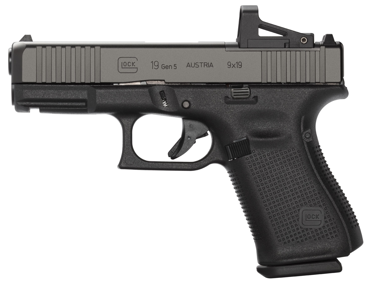 GLOCK PA195S201MOS   G19 9MM G5 MOS FXD FS     10R