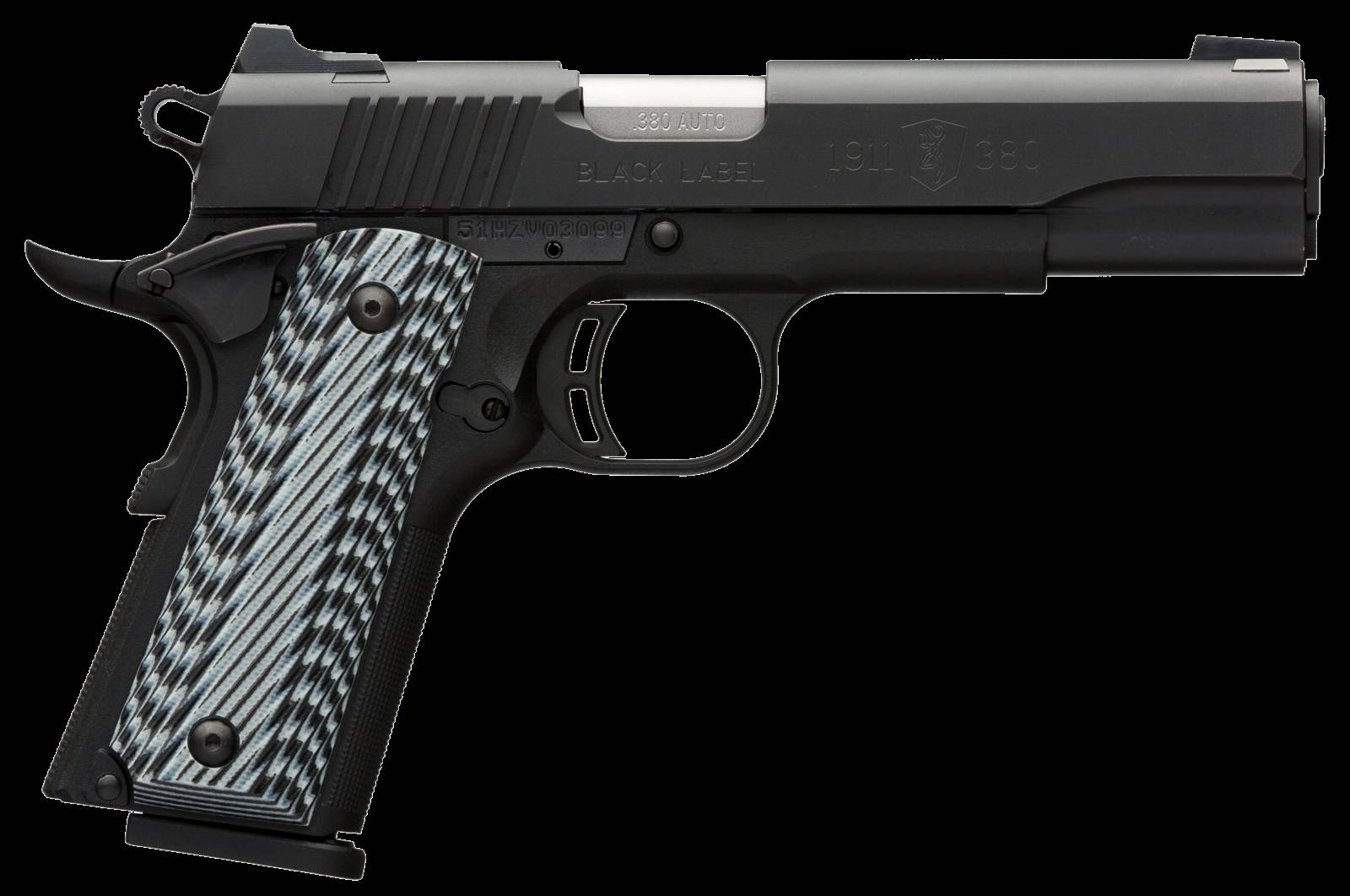 Browning 051900492 1911-380 Black Label Pro Single 380 Automatic Colt Pistol (ACP) 4.25