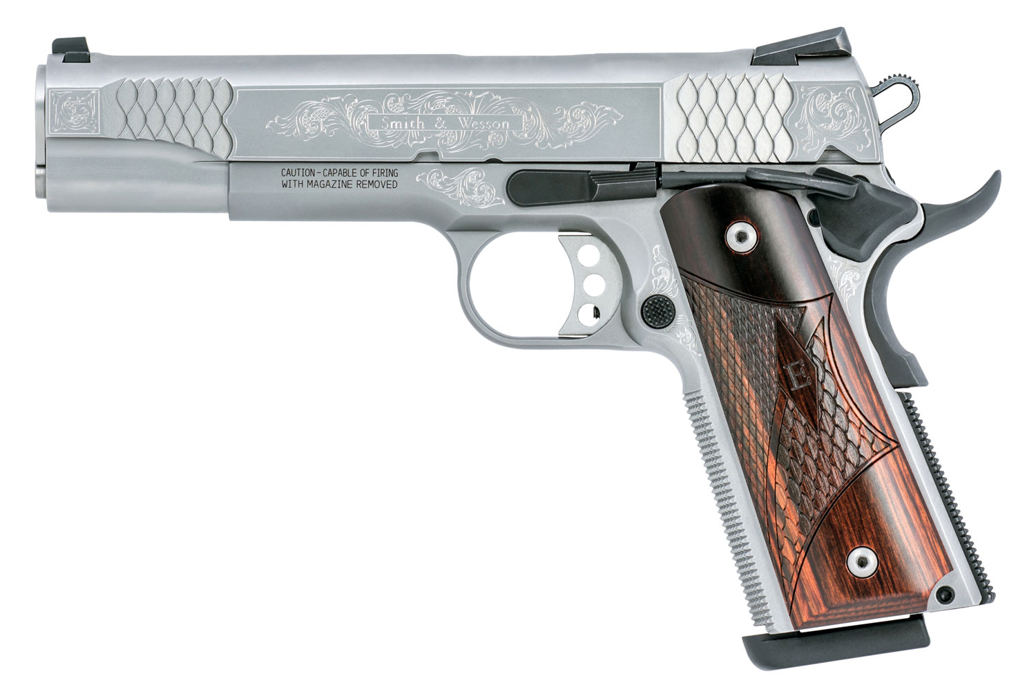 Smith & Wesson 10270 1911 Engraved Single 45 ACP 5