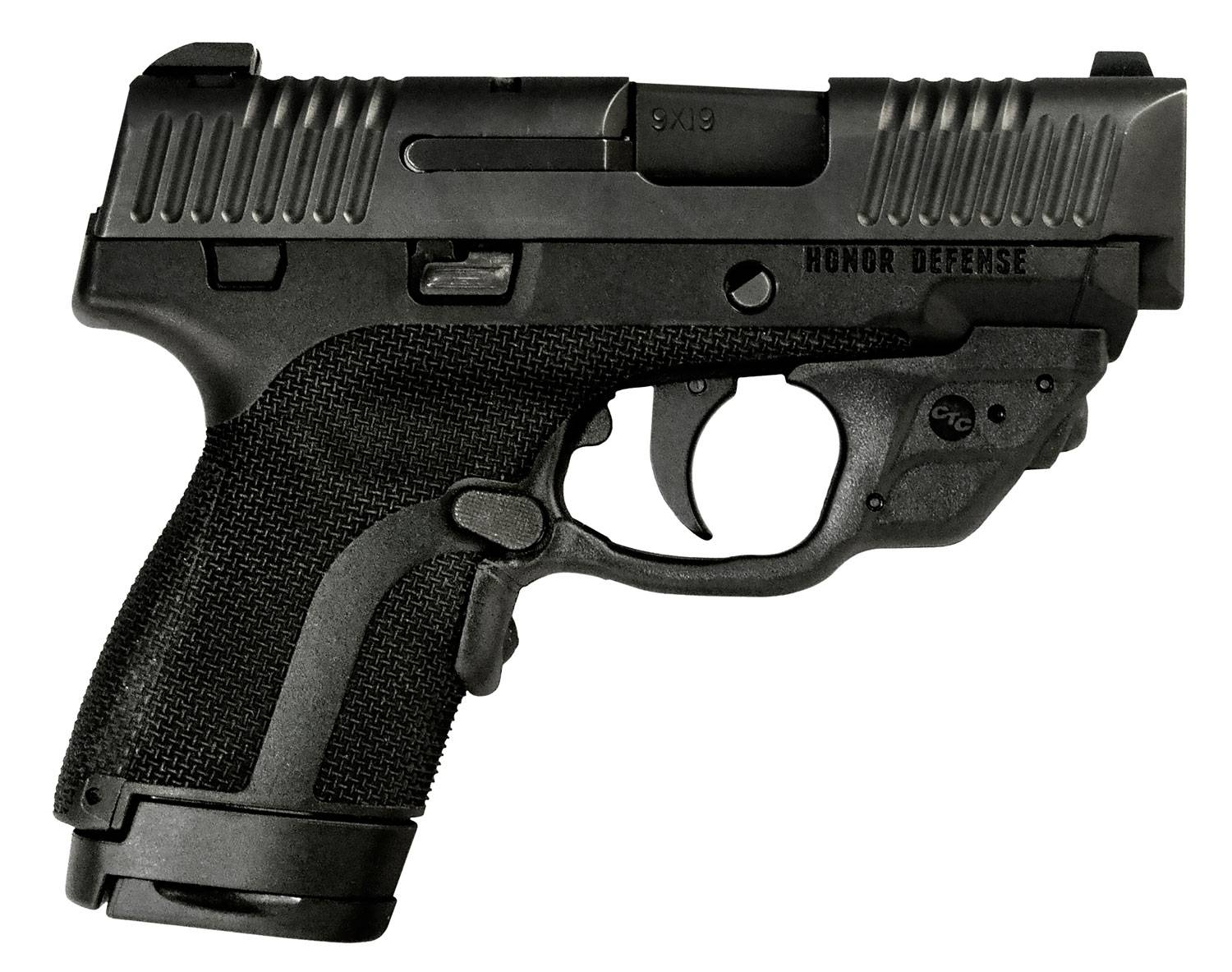 Honor Defense HG9SCCT Honor Guard Sub-Compact with Crimson Trace Double 9mm Luger 3.2