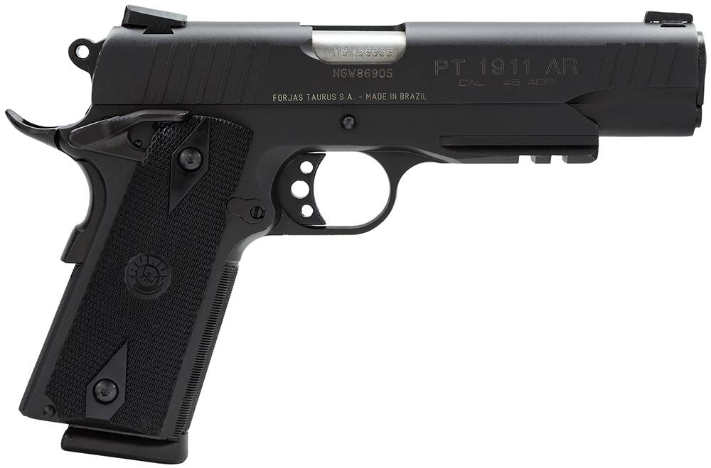 Taurus 1191101B1 1911 Standard with Picatinny Rail Single 45 Automatic Colt Pistol (ACP) 5