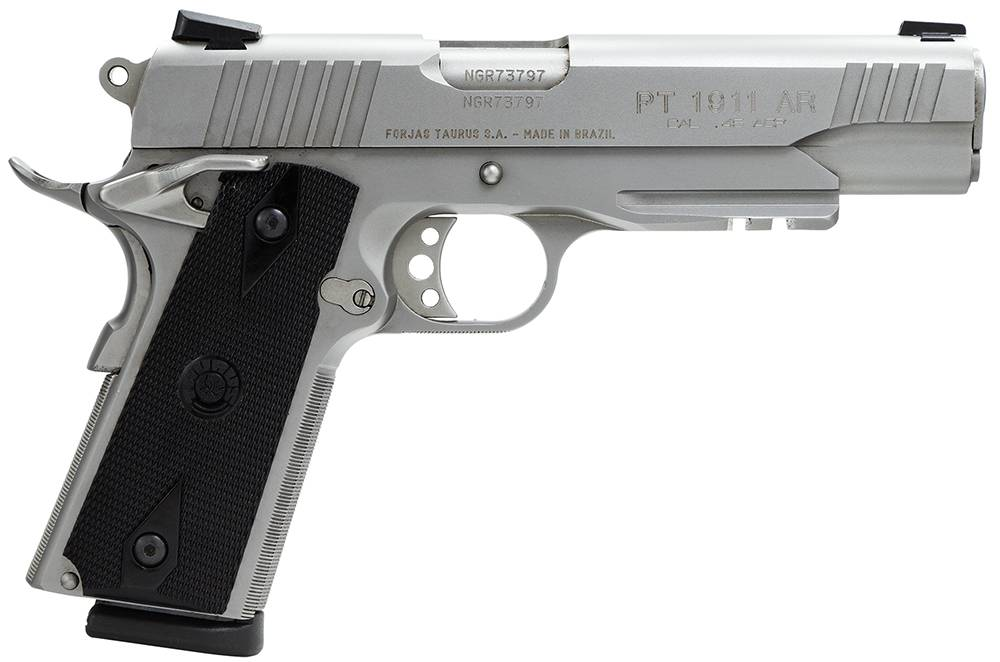 Taurus 1191109SS1 1911 Standard with Picatinny Rail Single 45 Automatic Colt Pistol (ACP) 5