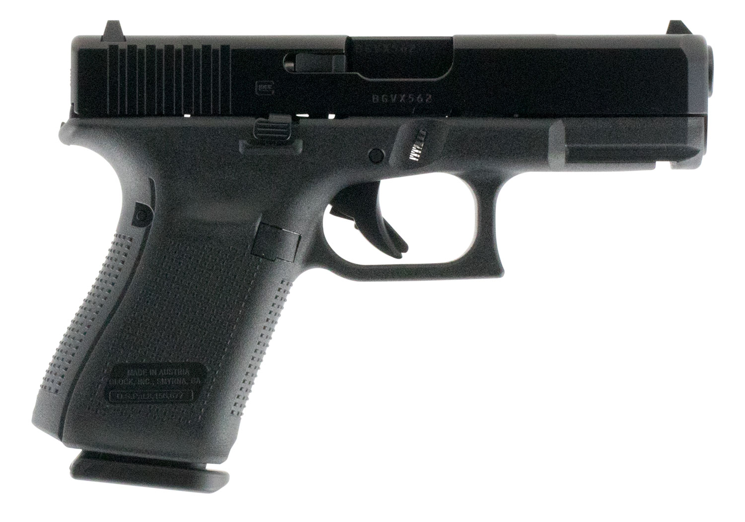 Glock PA1950203 G19 Gen5 Double 9mm Luger 4.02