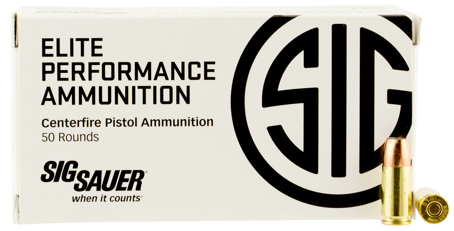 Sig Sauer E9MMA2-50 V-Crown 9mm 124 GR JHP 50Bx/20Cs