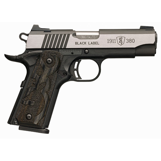 Browning 051936492 1911-380 Black Label Medallion Pro Compact Single 380 Automatic Colt Pistol (ACP) 3.625